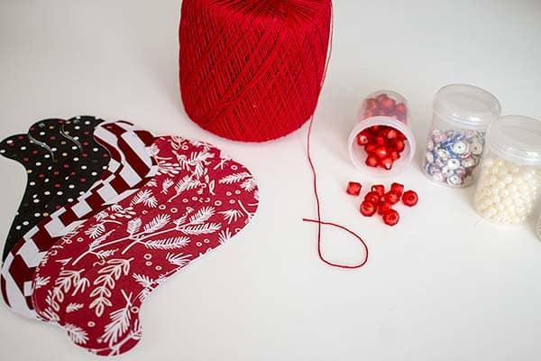Supplies needed to make pretty printable paper #ornaments.   LovePaperCrafts.com