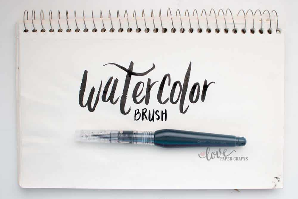 Learning to Hand Letter with a Watercolor Brush | LovePaperCrafts.com