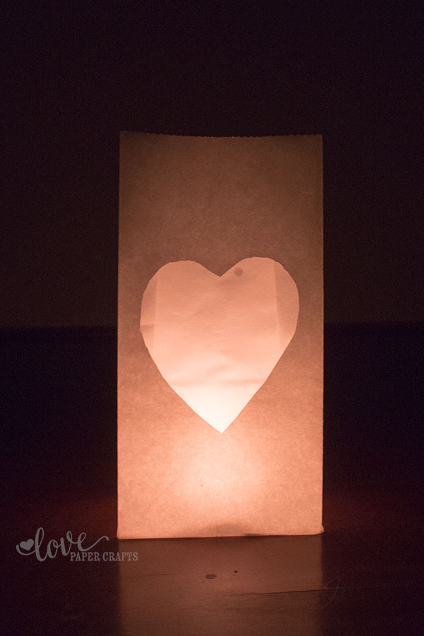 How to Make a Luminary the Easy Way | LovePaperCrafts.com