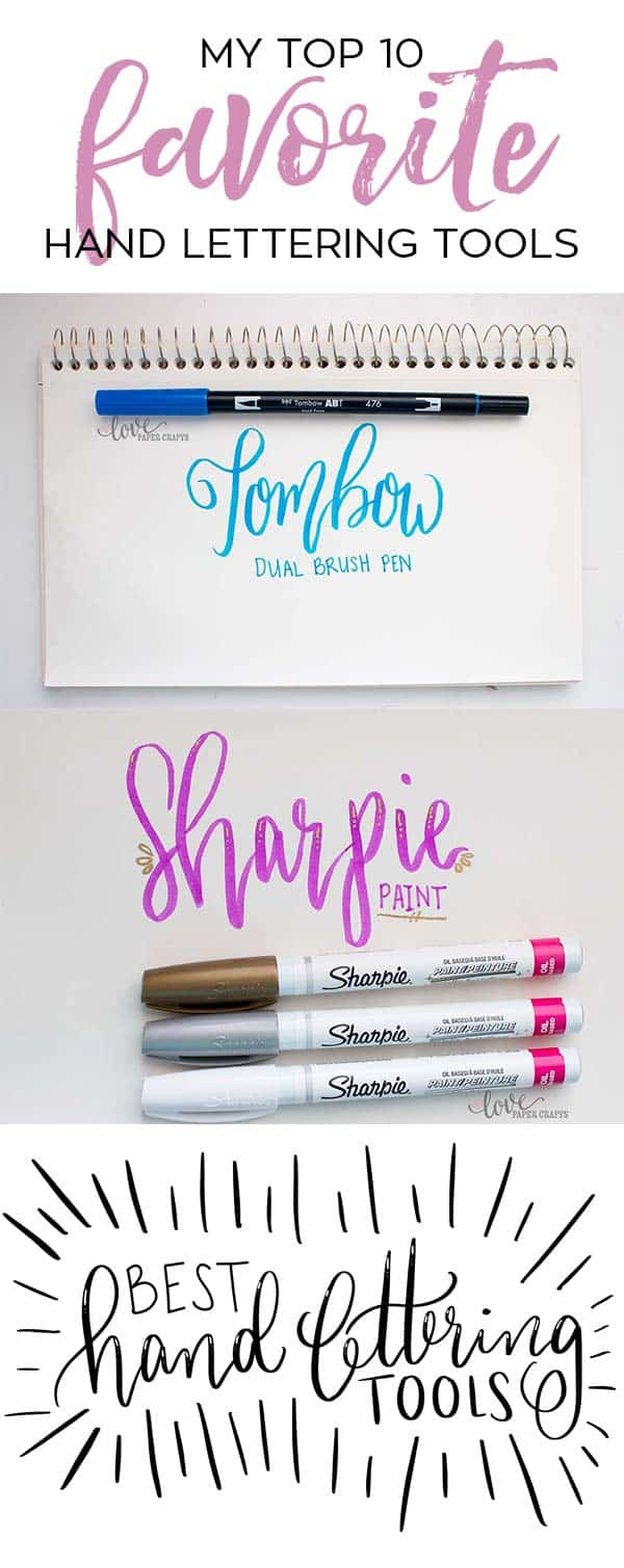 10 of the Best Hand Lettering Pens, Markers, Papers and Tools | LovePaperCrafts.com