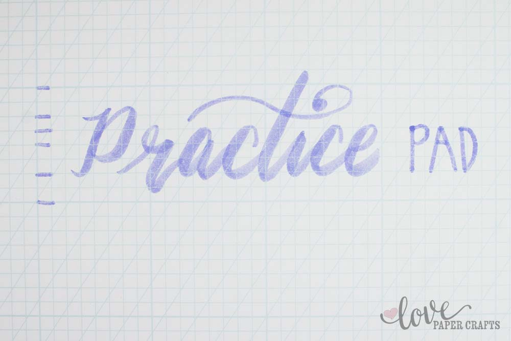 Hand Lettering Practice Pad | LovePaperCrafts.com