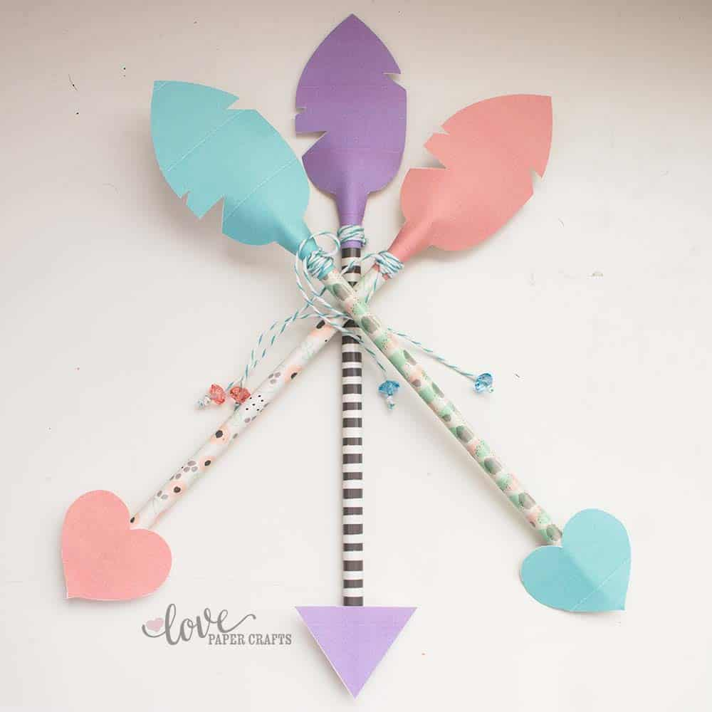 Valentine Pencil Arrow Printable | LovePaperCrafts.com
