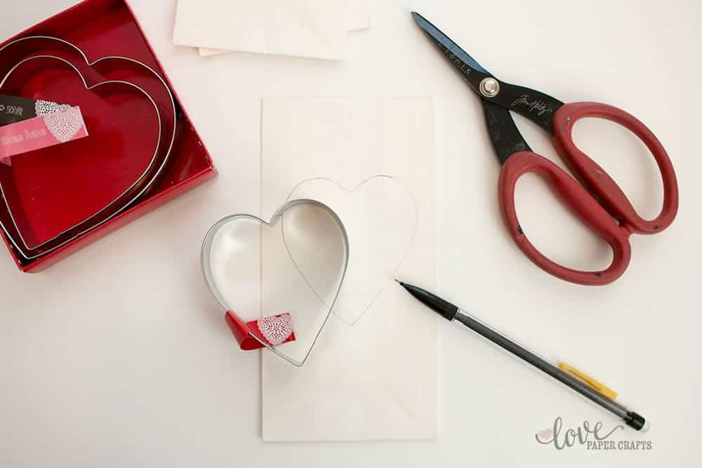 Valentine's Day Cookie Cutter  Luminaries | LovePaperCrafts.com