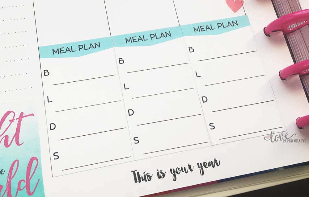 Printable Meal Planner Stickers For The Happy Planner  Love Paper
