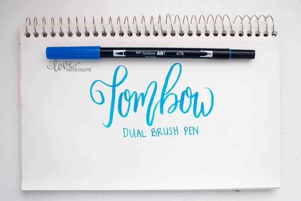 Top 10 Hand Lettering Tools - Tombow Dual Brush Pen | LovePaperCrafts.com