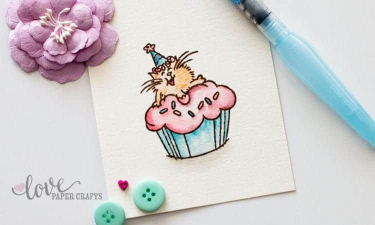 5 Tips for Using Watercolor on Stamped Images | LovePaperCrafts.com