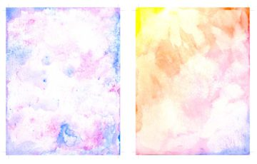 Awesome free printable watercolor card background textures. Rainbow colored and blue and purple.