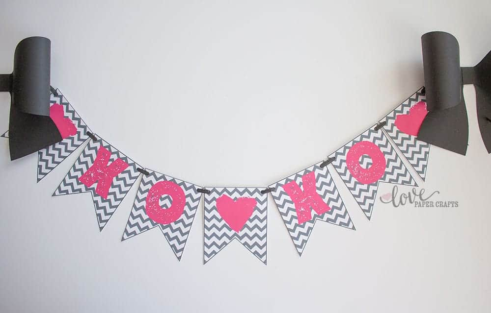 Free Valentine S Day Printable Banner Love Paper Crafts
