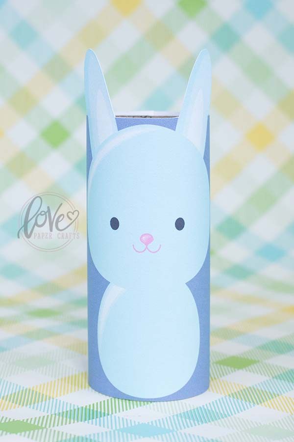 Cute Toilet Paper Easter Bunny Paper Craft Project