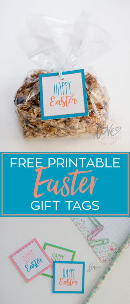 Free Printable Easter Gift Tags for my Easter giveaway.