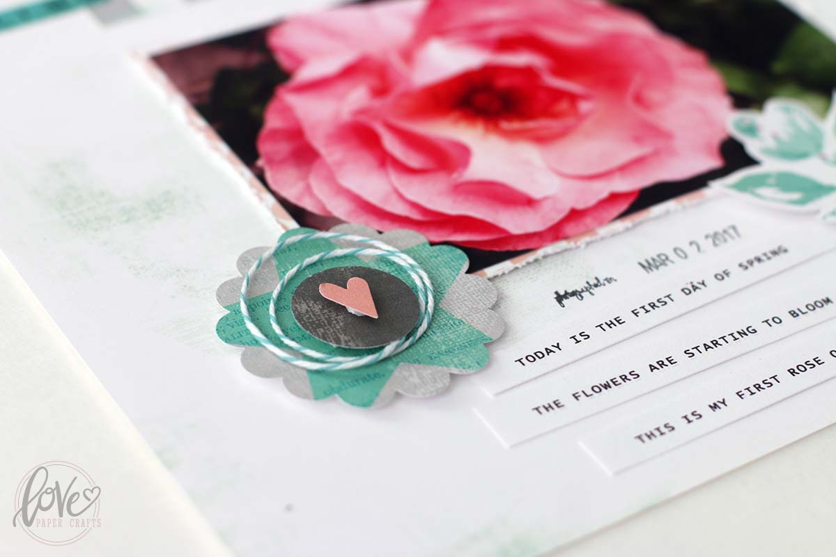 Pretty Scrapbooking Layouts for Spring