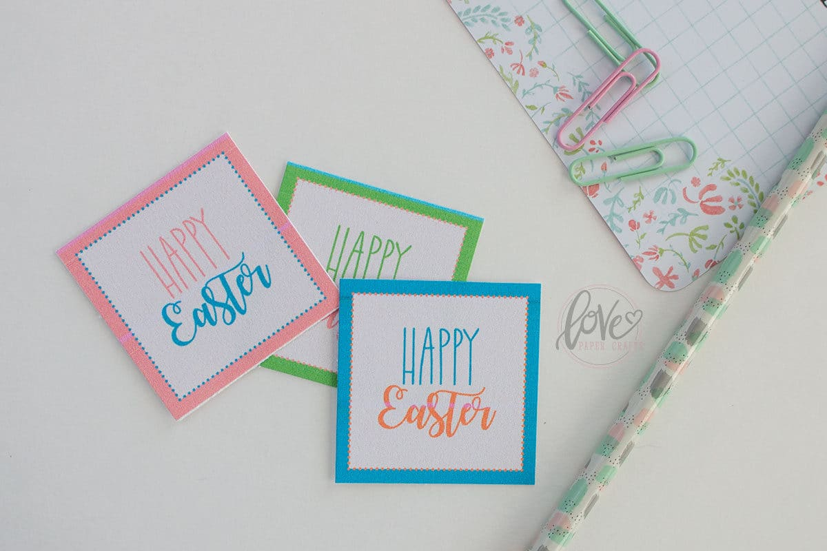 Colorful set of free Printable Easter Tags perfect for party favors and gifts.