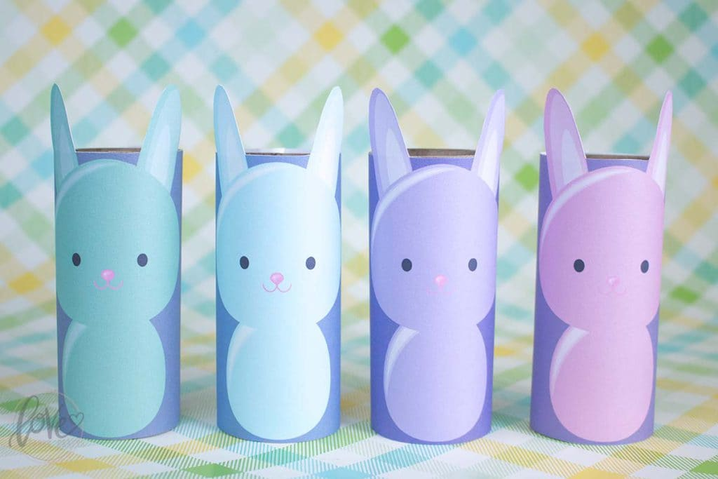 Printable Toilet Paper Roll Easter Bunny