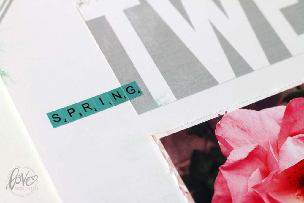 Scrapbooking Spring Layout Design