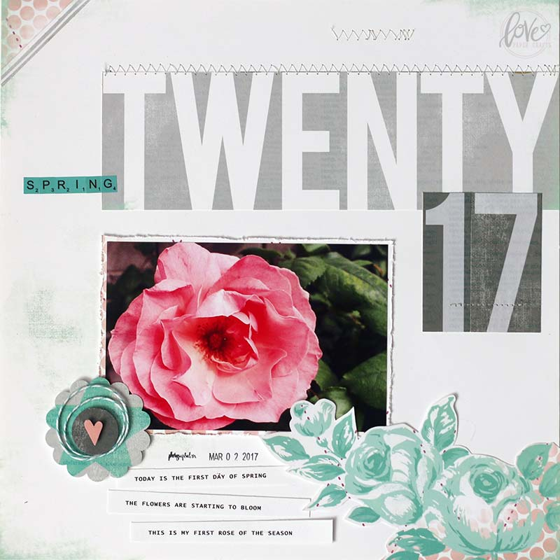 Spring Scrapbooking Layout
