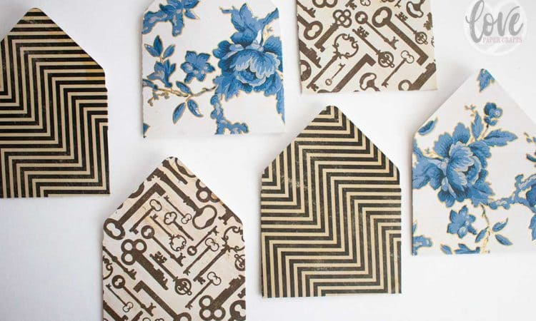 Custom Envelopes from Scrapbooking Paper