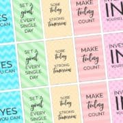 Free Printable Motivational Fitness and Gym Planner Stickers sized Perfectly for the Happy Planner