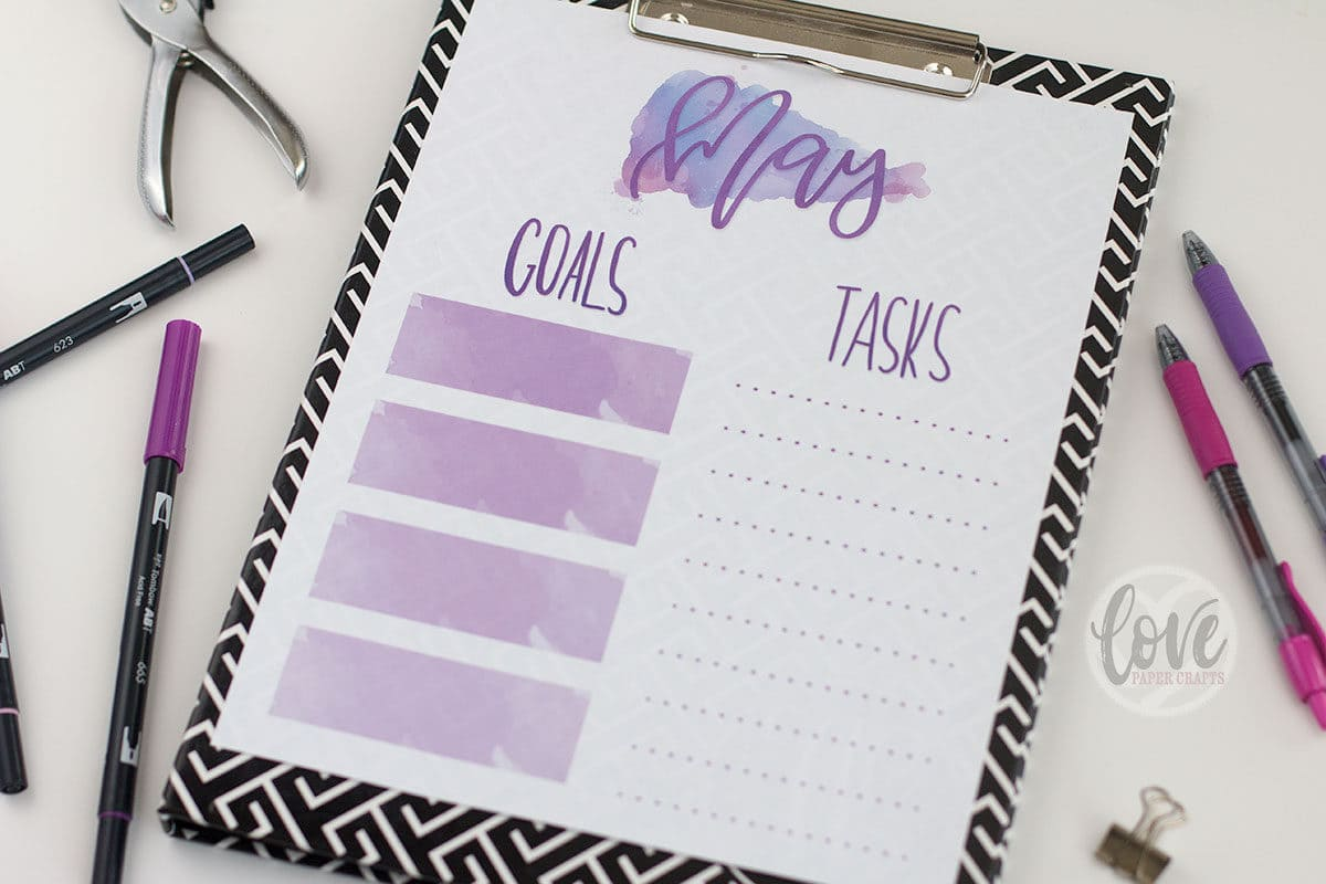 May Goal Planner Free Printable