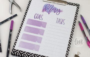 May Goal Planner Free Printable
