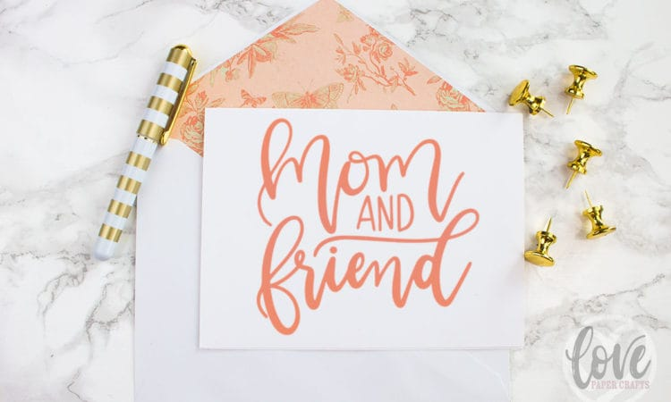 Mothers Day Mom and Friend Free SVG Cut File