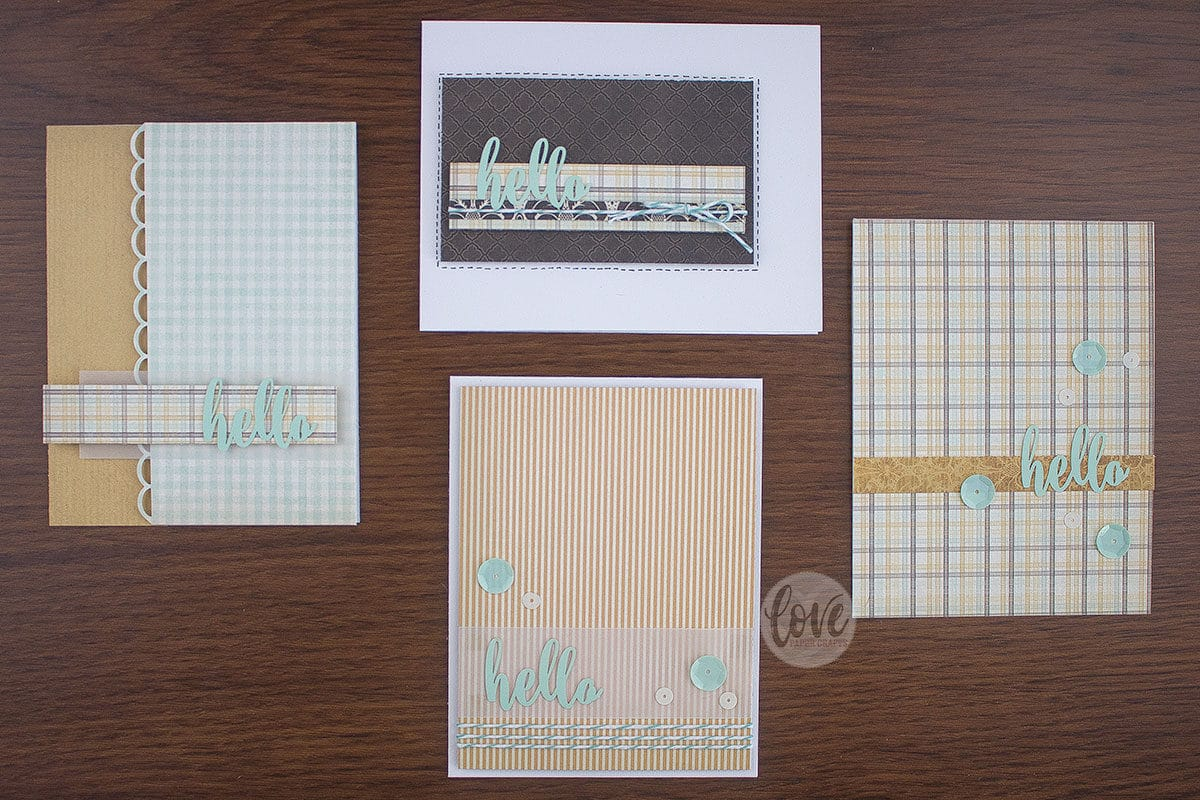 Easy handmade cards from paper scraps