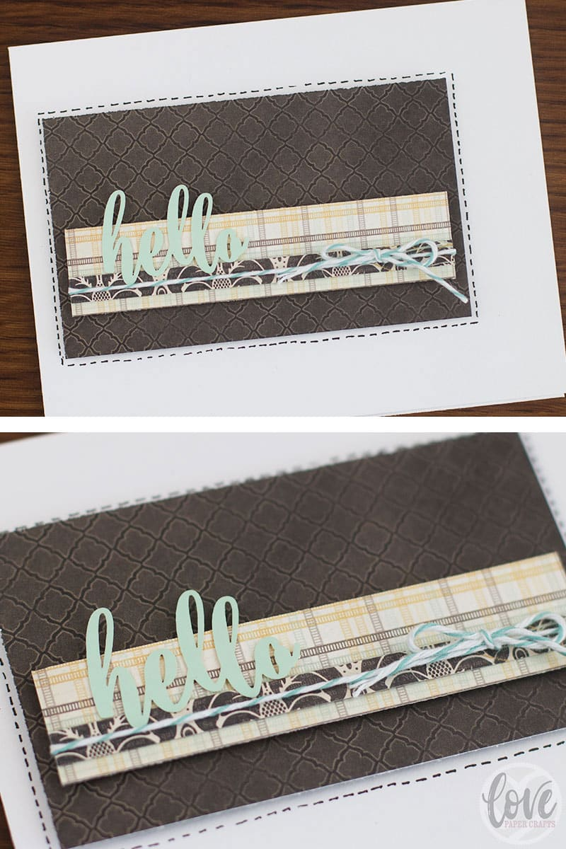 Easy handmade scrap paper and sticker greeting cards