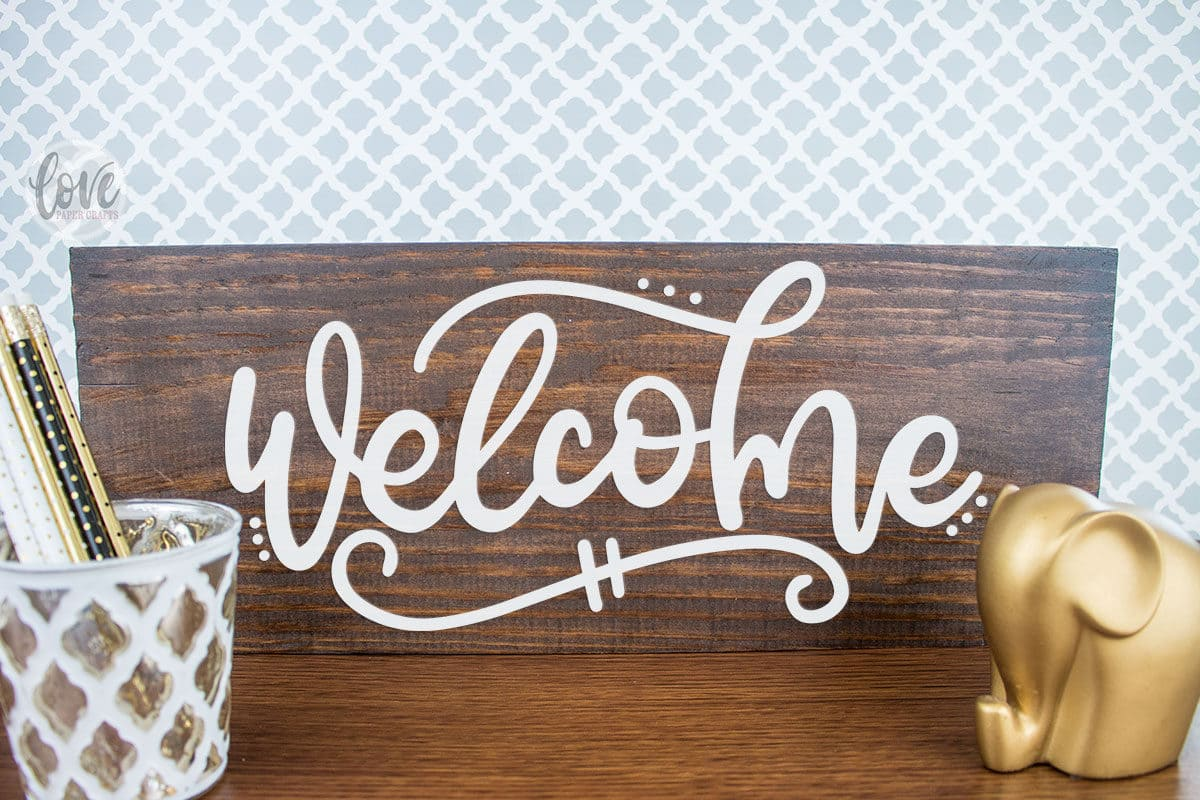 Free hand lettered welcome cut file svg dxf eps png jpg vector graphic clip art