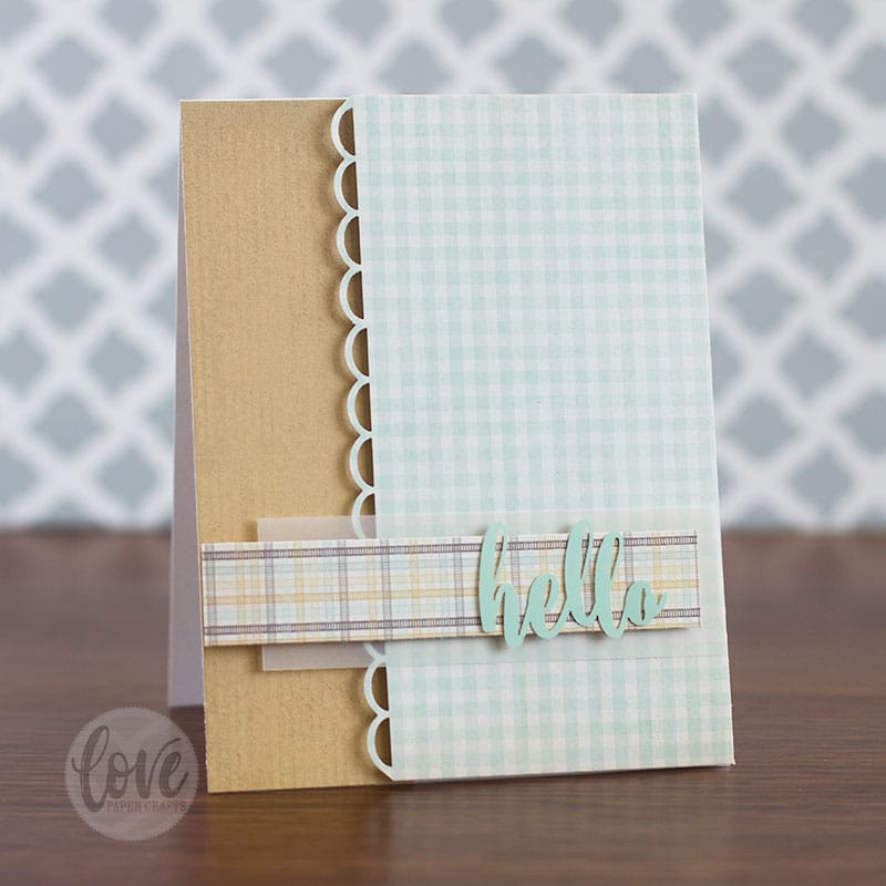 How to make a greeting card the easy way with stickers