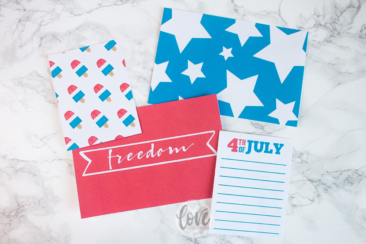 Free 4th of July Printable Planner Journaling Cards