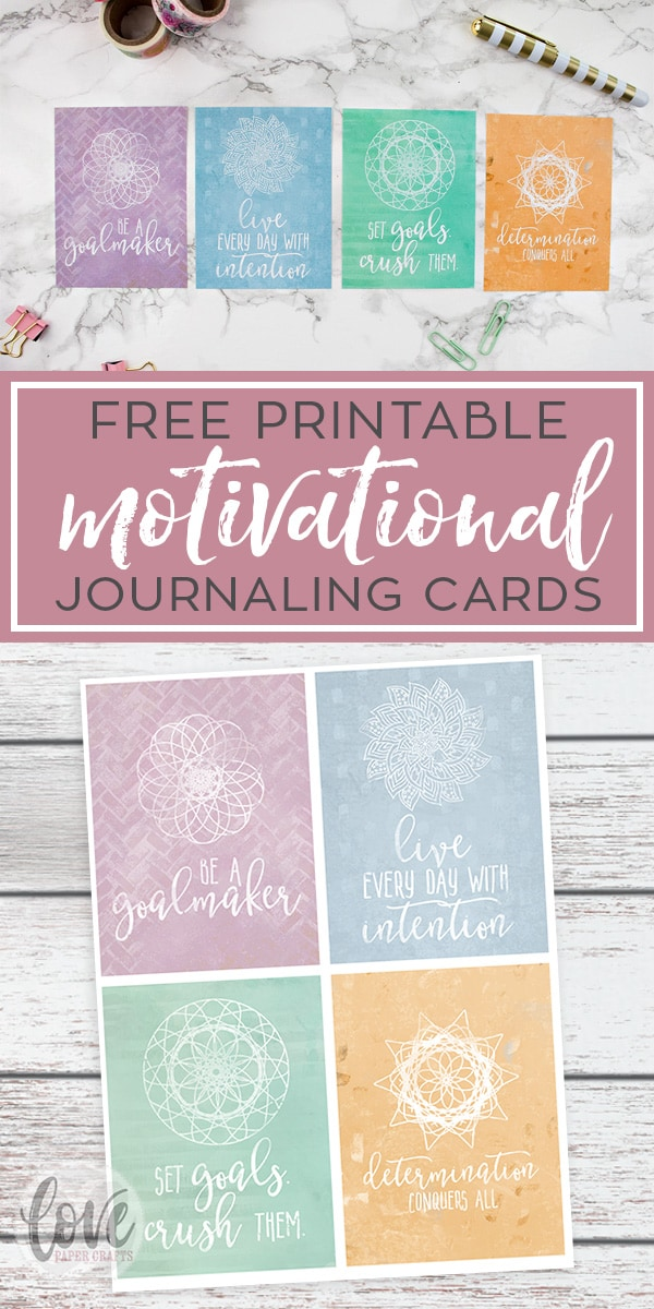 Free Printable Motivational Journal Cards for Planners and Project Life