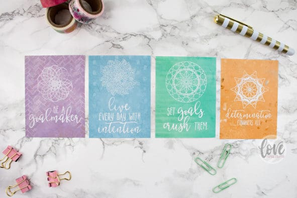 Printable Motivational Goal Planner Journaling Cards
