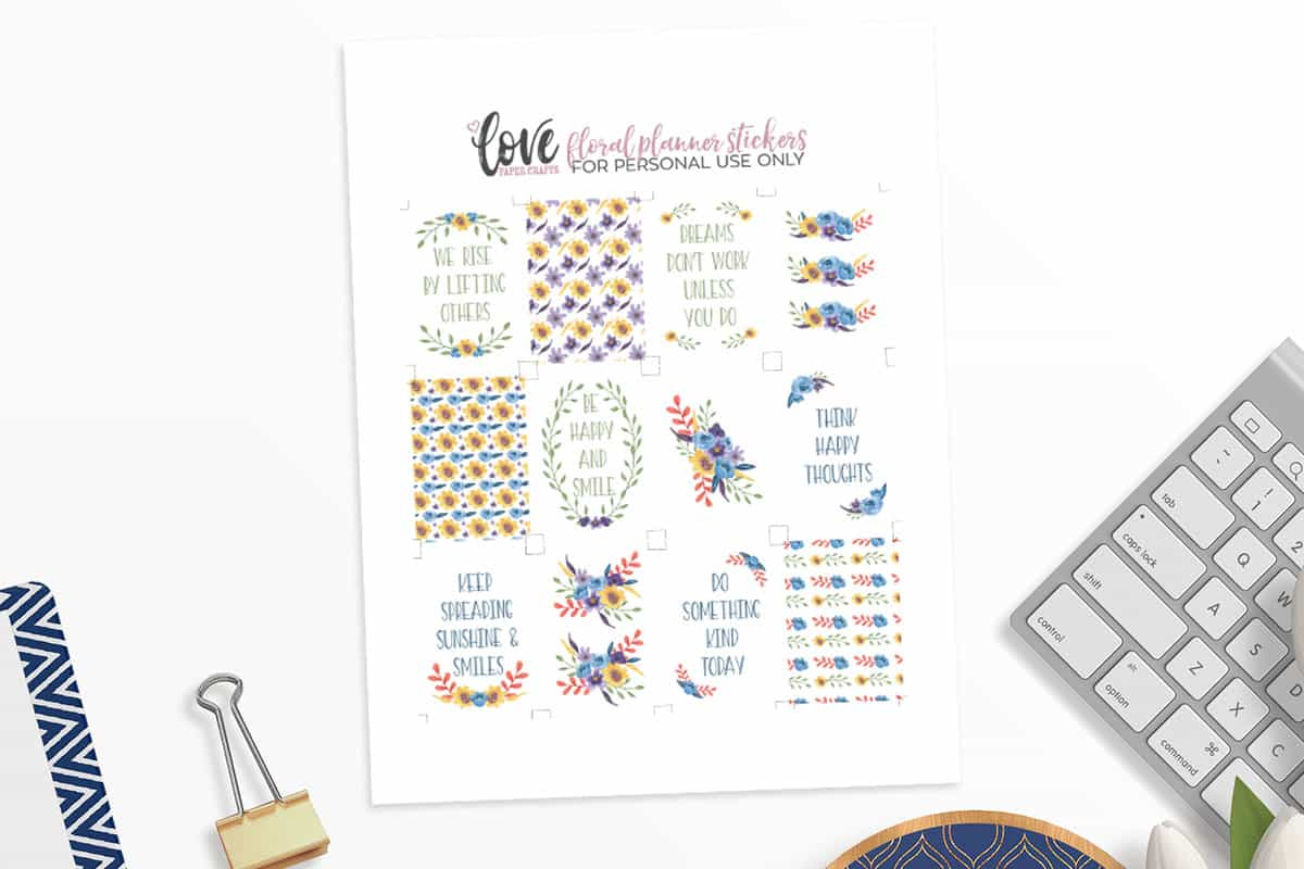Sports Deco | Free Printable Planner Stickers – PlannerProblem