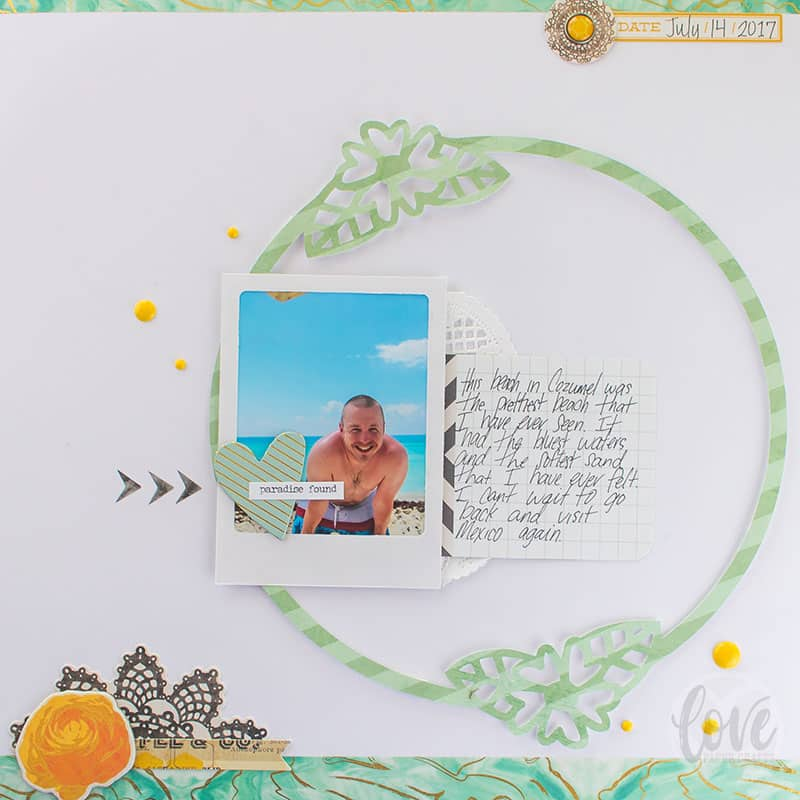 Colorful SVG Scrapbook Layout Page Design Inspiration for a Beach Vacation