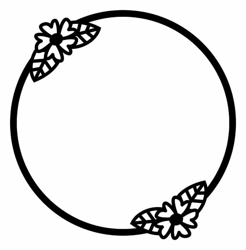 Free Floral Circle Frame SVG Cutting File