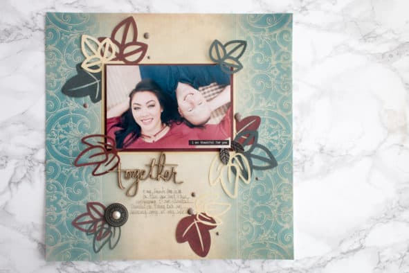 Autumn Scrapbooking Layout