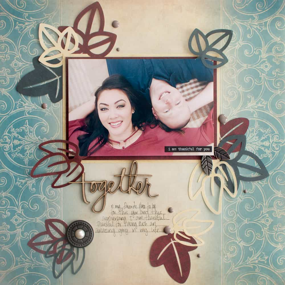 Fall Leaves Scrapbooking Layout
