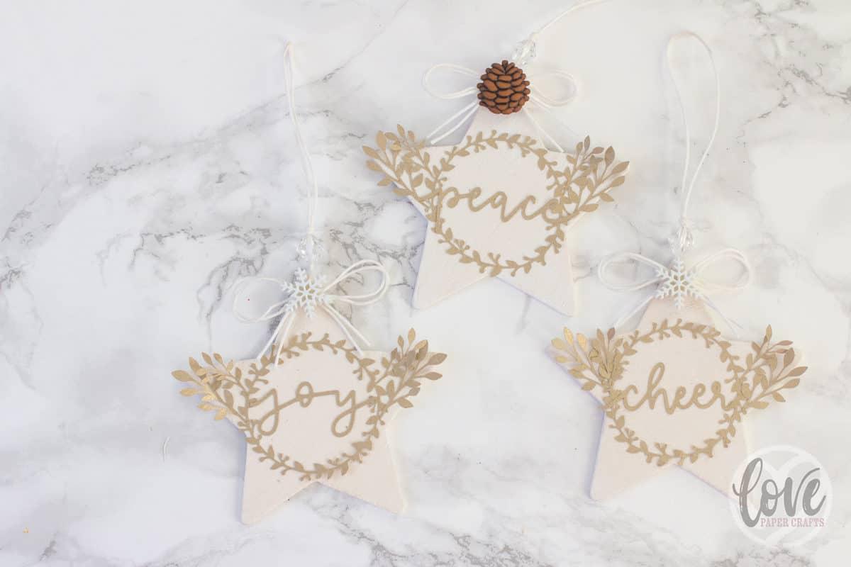 DIY Hand Lettered Wood Veneer and Paper Ornaments Tutorial