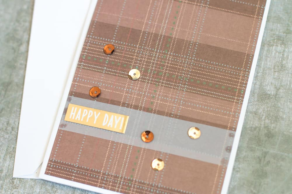 Easy Handmade Card with Sequins