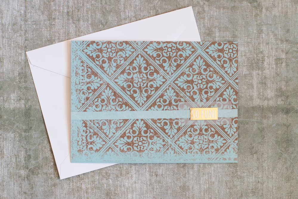 Easy Vellum and Gold Handmade Greeting Card