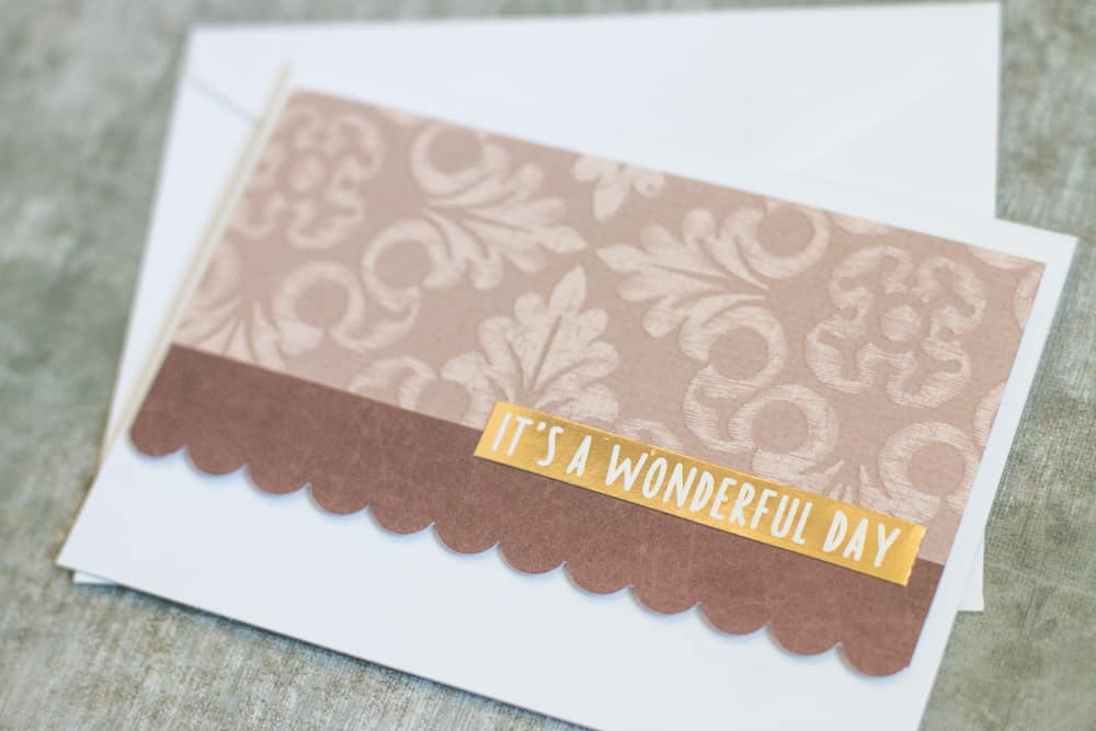 Gold Handmade Greeting Card