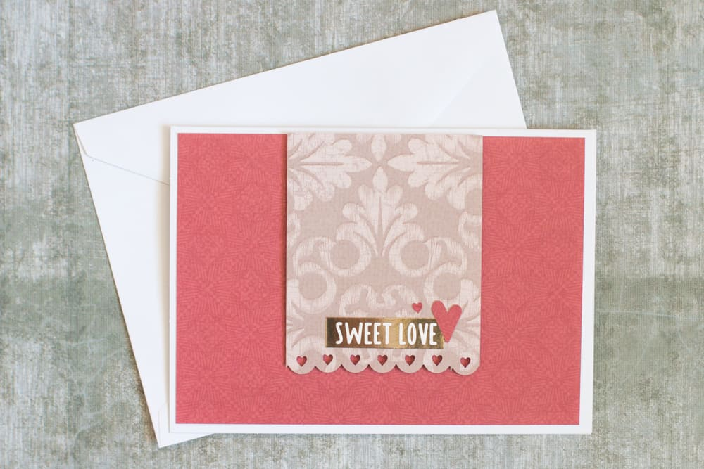 Quick Handmade Card with Stickers