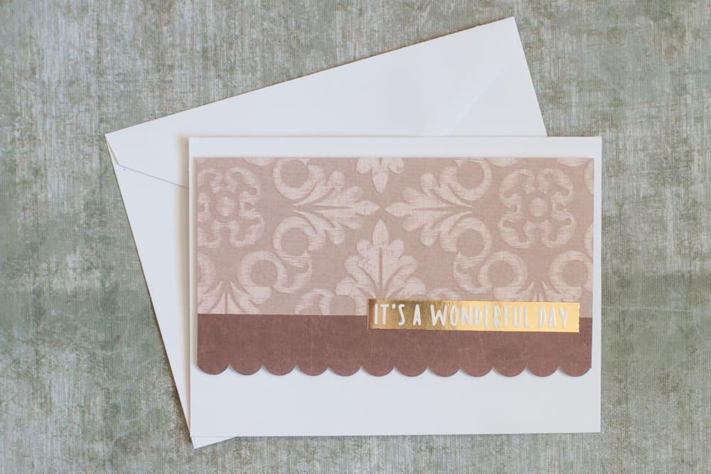 Scallop Handmade Greeting Card