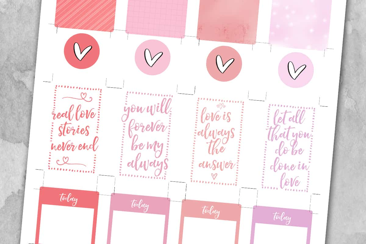 Free Printable Valentines Day Planner Stickers